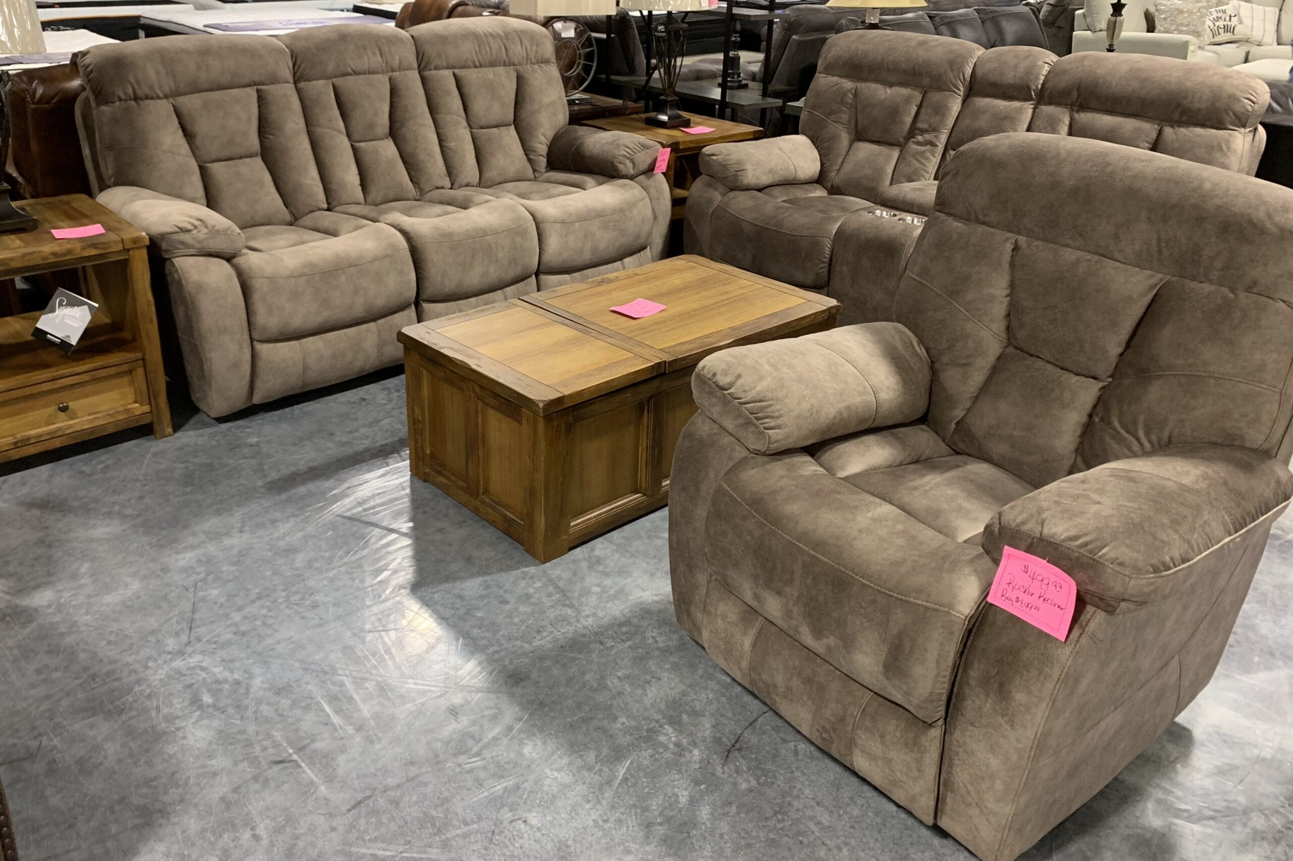 a 3pc. reclining living room set by Steve Silver